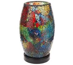 Smoking Lamp Is Lighted by Illuminated Mosaic Plug In Lamp By Valerie Page 1 U2014 Qvc Com