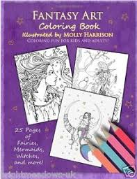 Image Is Loading Fantasy Dragons Mermaids Fairies Adult Colouring Book Creative