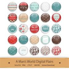 Scrapbook Designs Printable Stickers Love Beautiful Digital Flairs Clipart Scrapbooking Brads