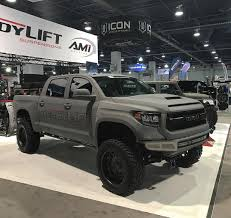 Starwood Custom Toyota Tundra In @readylift Booth @semashow '16 ... Custom Toyota Tacoma Truck Lifted Huge Wheels Chameleon Paint 2018 Trd In Cement Grey Silver Arrow Used 2006 Tundra Sr5 4x4 For Sale 46358 2016 Lift Kits By Bds Suspension The Trucks Of Sema 2014 Car Tunes Vehicle Accsories Near Raleigh And Durham Nc Toytec Gallery Page 2 4runner Forum Sport 844