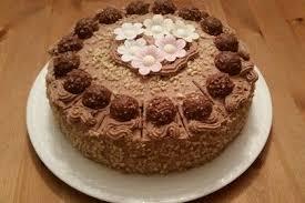 rocher torte mit nutella und haselnüssen cookbakery