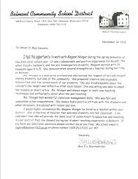 Sample Recommendation Letter For A Teacher