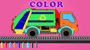 100 Garbage Trucks Videos For Kids Learn Colors With A Truck On Truck