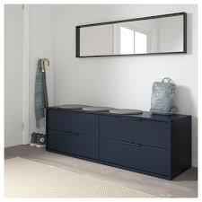 nordmela kommode mit 4 schubladen schwarzblau 159x50 cm