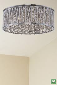 Patriot Lighting Elegant Home Carolyn Chrome Flush Mount with