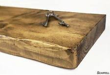 Rustic Floating Shelf Shelves Chunky Industrial Handmade Solid Wood Wooden F3