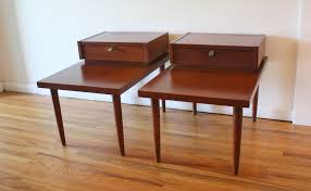 American Of Martinsville Dining Room Table by Mid Century Modern Pair Of 2 Tiered Side End Tables By American By