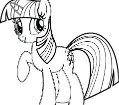 My Little Pony Rainbow Dash Coloring Page Pages Color