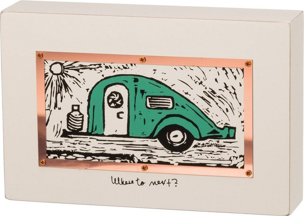Primitives by Kathy 34336 Wood Box Sign, Camper