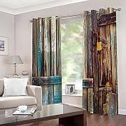 jcbedding vorhang blickdicht gardinen mit ösen retro