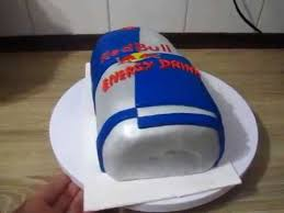 redbull energy drink fondant geburtstags torte