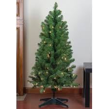 4 X 25 Pre Lit Noble Pine Artificial Christmas Tree Clear Lights
