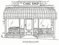 black and white illustration of old shop facades Google Search