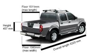 Nissan Frontier Bed Dimensions by Dimensions For D40 Double And King Cab Nissan Navara Net