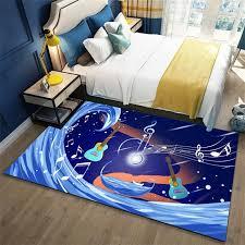 blau gitar teppich sterne kinderzimmer schlafzimmer teppiche baby krabbeln matte boy weiche wohnzimmer teppiche hause dekorative