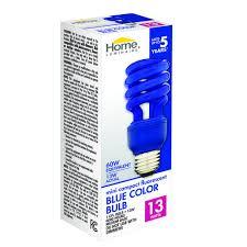 home luminaire 13 watt mini cfl blue light bulb at menards
