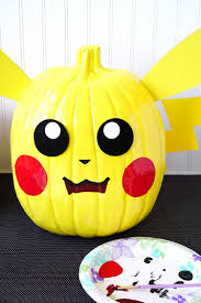 Halloween Faces For Pumpkins Painted by Pokemon Pumpkins Pikachu Pokeball Happiness Is Homemade