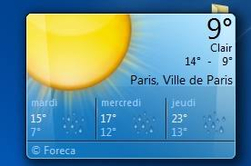 gadget de bureau meteo comment installer la météo sur bureau windows 7