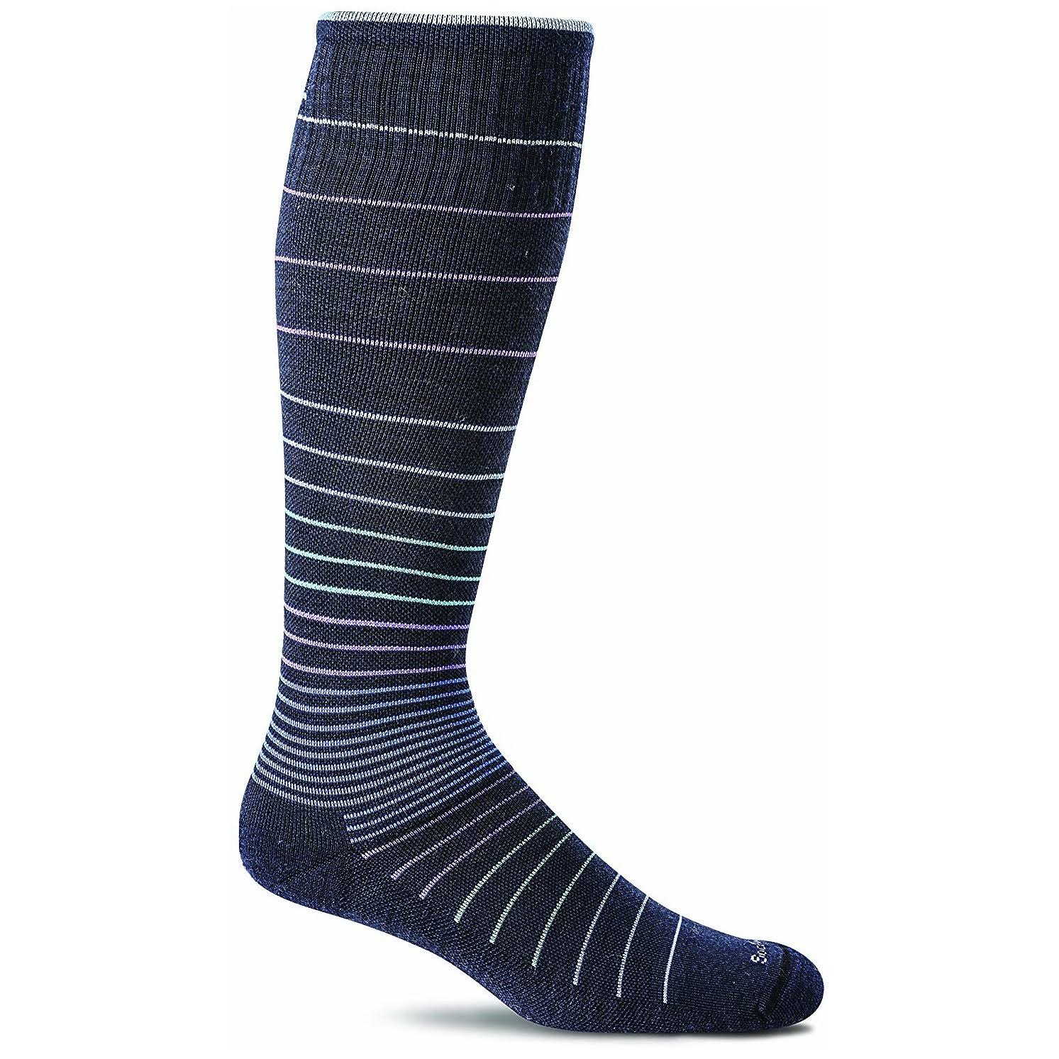 Sockwell Women's Circulator Compression Sock - Navy, Small-Medium