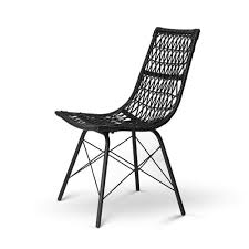 Artiss Set Of 4 PE Wicker Dining Chair - Black Lotta Ding Chair Black Set Of 2 Source Contract Chloe Alinum Wicker Lilo Chairblack Rattan Chairs Uk Design Ideas Nairobi Woven Side Or Natural Flight Stream Pe Outdoor Modern Hampton Bay Mix And Match Brown Stackable