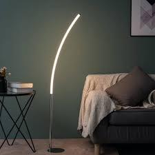 minimalistische gebogene led stehleuchte h140 cm tobias