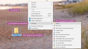 creer icone bureau créer et supprimer un dossier windows cours informatique gratuit