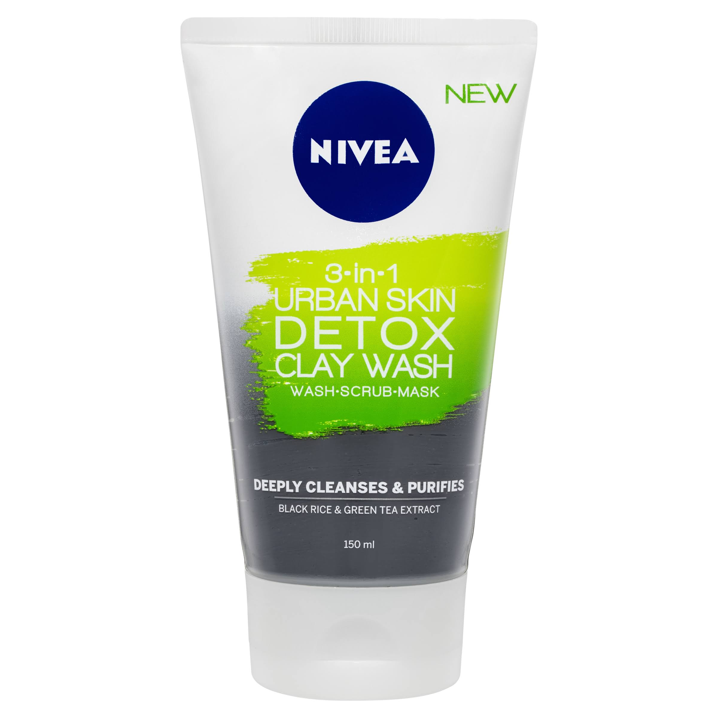 Nivea 3-in-1 Urban Skin Detox Clay Wash - 150ml