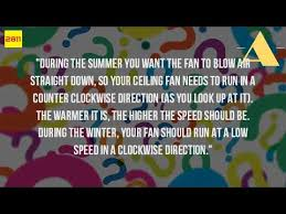 which way to turn your fan in the summer youtube