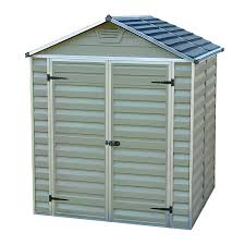 6x5 Shed Double Door by 6 X 5 Skylight Plastic Green Garden Storage Shed By Waltons