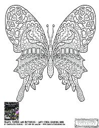 Butterfly Coloring Pages Printable For Adults Small Free Page Full Size