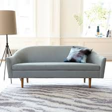 West Elm Bliss Sofa Bed by Billie Tightback Sofa Yarn Dyed Linen Weave Dusty Blush Home