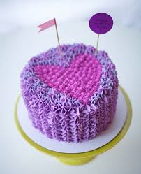 Purple Heart Cake on Craftsy via Coco Cake Land