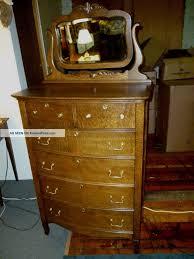 tiger oak dresser beveled mirror home design ideas