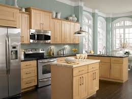 bright design kitchen colors with light brown cabinets wall what