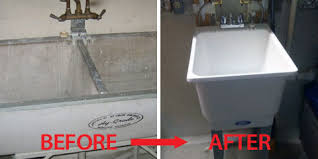 Mustee Utility Sink Legs by Kitchen And Batch Fixture Replacements Waukesha Plumbing
