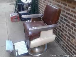 vintage 1960 koch barber chair 500 south chicagoland