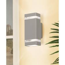possini rectangular silver up outdoor wall light style