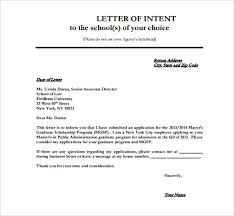 Letter Intent 8 School Letter Intent Templates Free Sample