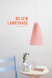 DIY No Sew Fabric Lamp
