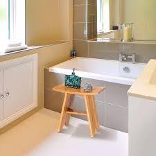 giantex 18 bambus dusche sitzbank badezimmer spa bad veranstalter hocker w lagerung regal moderne bad möbel ba7273