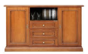 tv anrichte hoch für esszimmer küche wohnzimmer tv schrank aus holz mit 3 schubladen 2 türen 1 fach für tv apparat möbel tv klassisch im stil