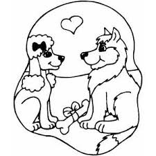 Lovers Dogs Coloring Page