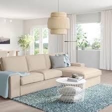 kivik 3er sofa mit récamiere hillared beige ikea österreich