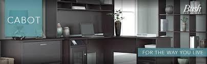 Bush Cabot L Shaped Desk Office Suite by Amazon Com Cabot Corner Desk With Hutch In Espresso Oak Kitchen