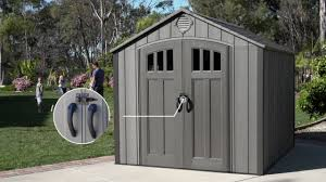 new lifetime 8 x 10 storage shed rough cut version model 60211