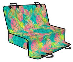 Palm Tree Beach Print Pattern Pet Car Seat Cover