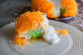 gold eigelb thread kuchen oder kuchen foi tong lava kuchen