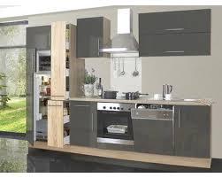 menke küchenzeile 310 cm lava hochglanz sonoma eiche