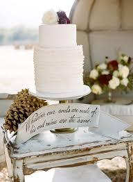 Rustic Winter Wedding Cakewhite Cake