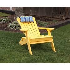 Living Accents Folding Adirondack Chair by Poly Folding Reclining Adirondack Chair
